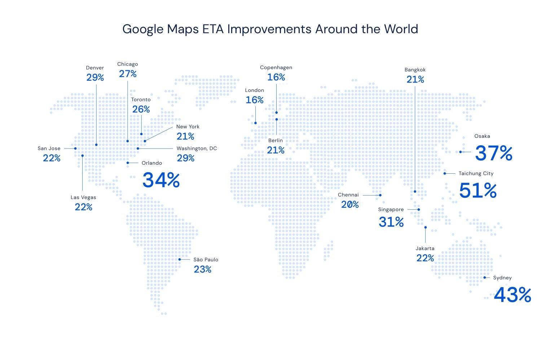 google maps eta verbesserung
