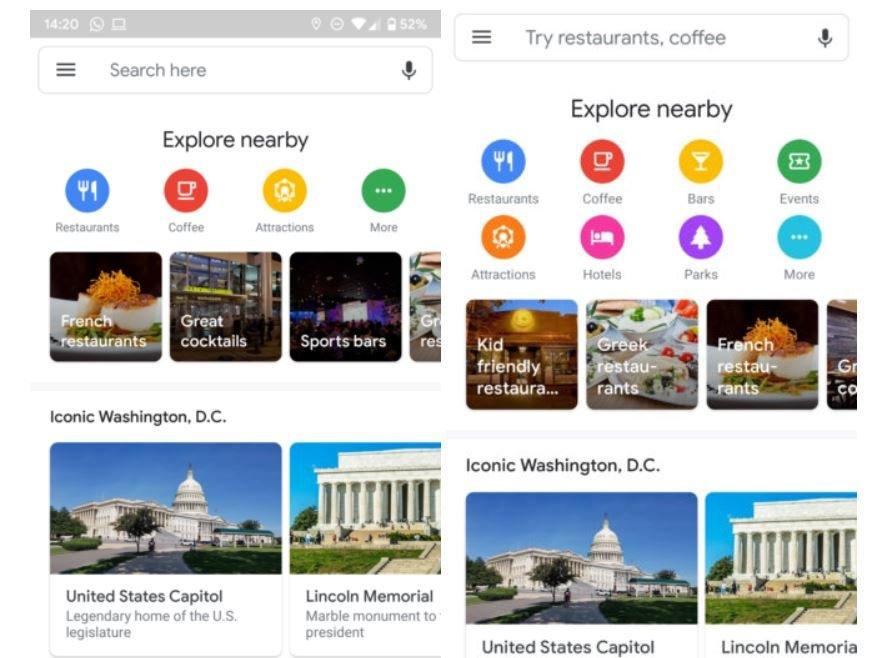 google maps explore full