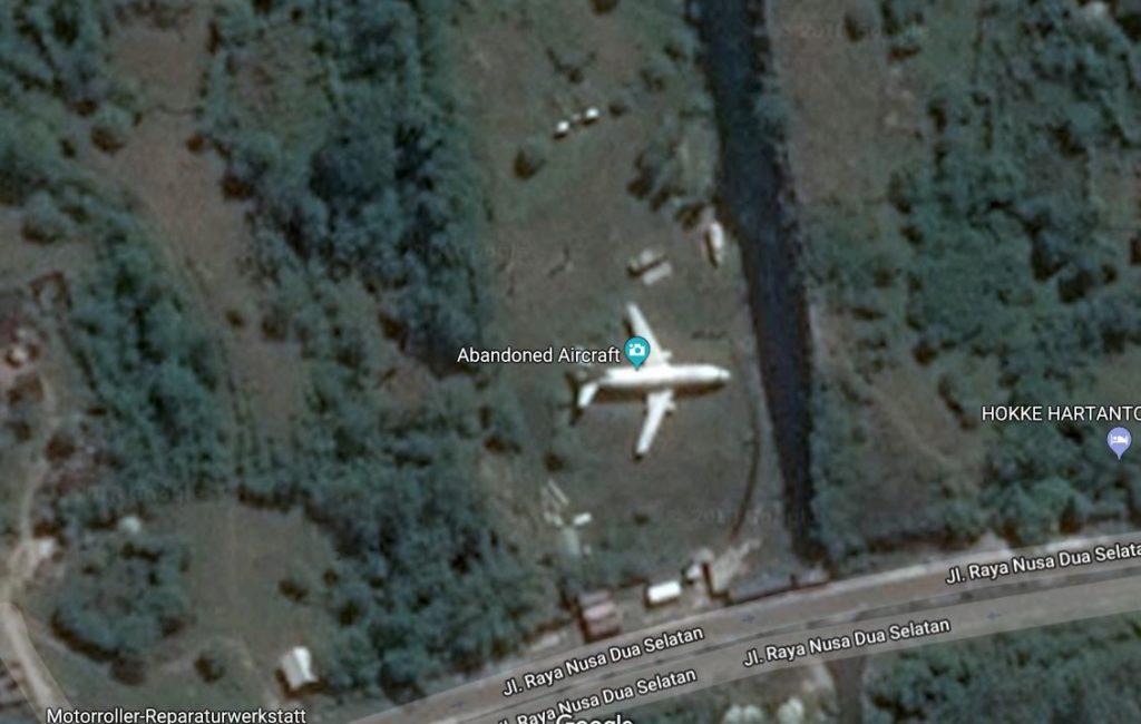 google maps flugzeug