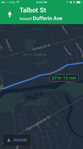 google maps for ios night mode