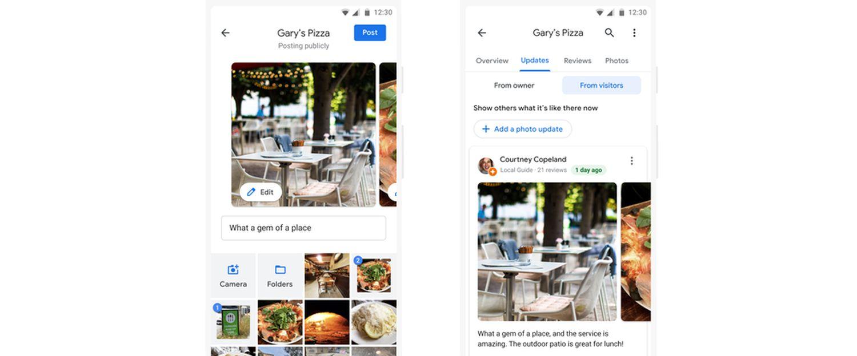 google maps foto update