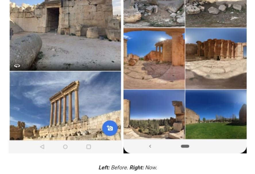google maps gallery view
