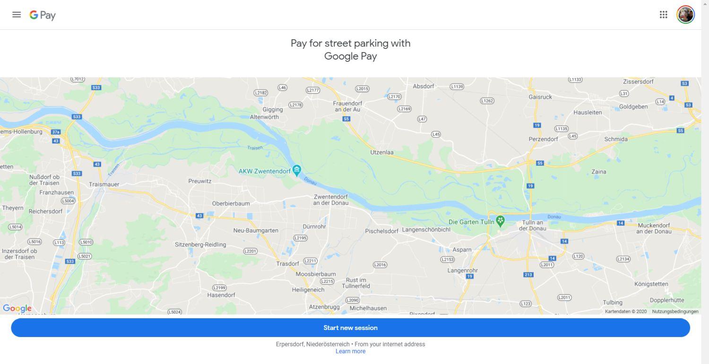 google maps google pay parken