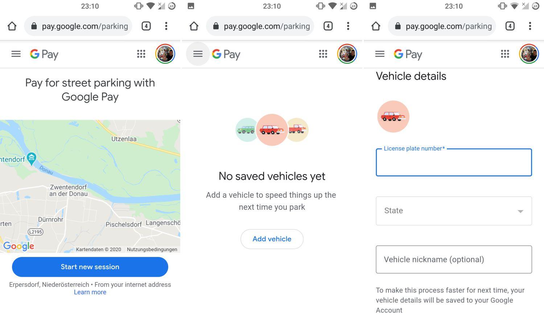 google maps google pay parkticket kaufen