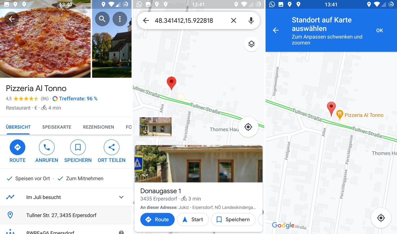Google Maps Hausnummern finden