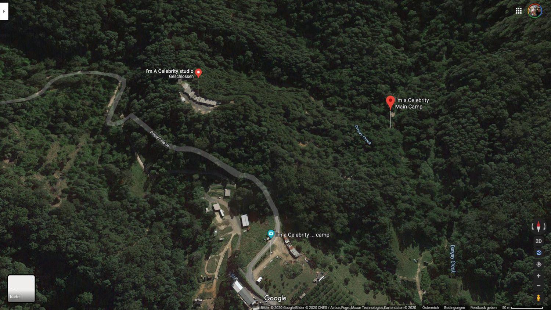 google maps ich bin ein star holt mich hier raus