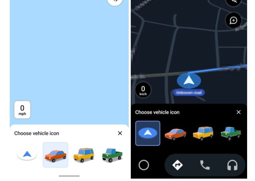 google maps icon auswahl