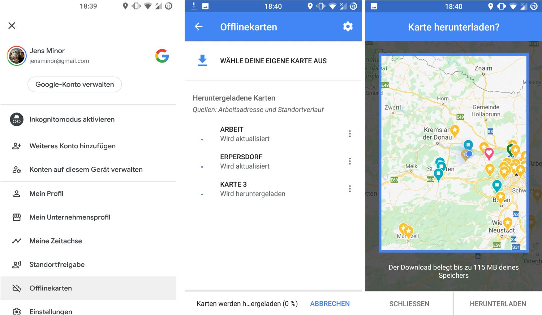 google maps karte download