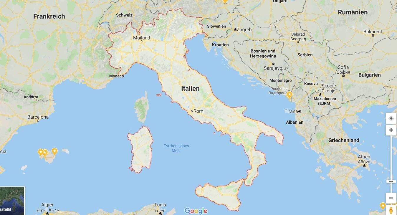 google maps land