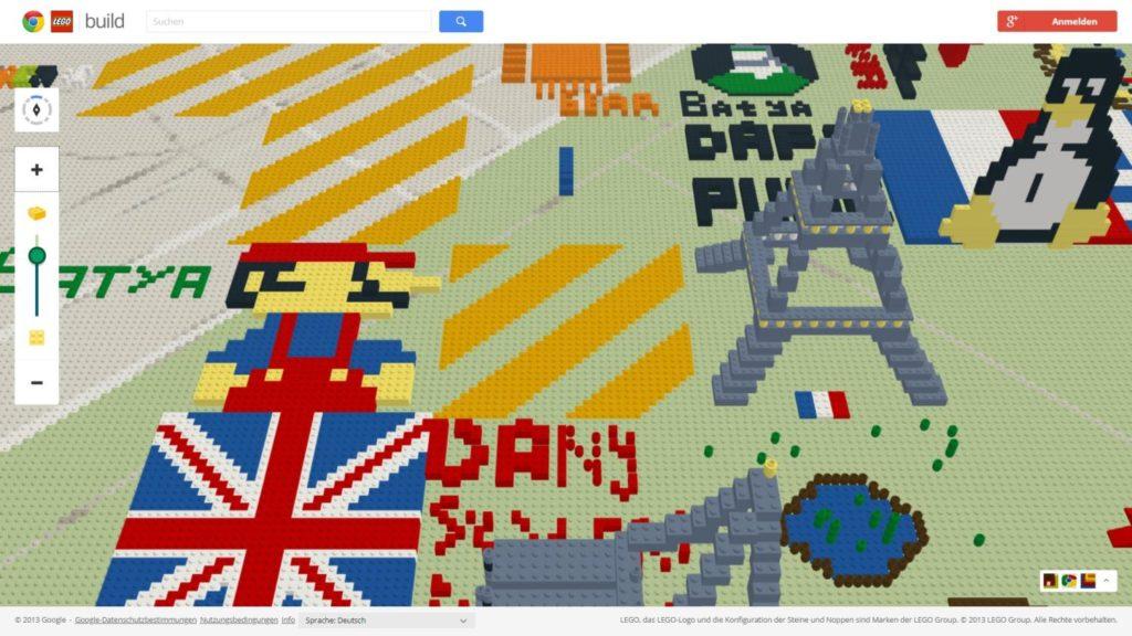 google maps lego