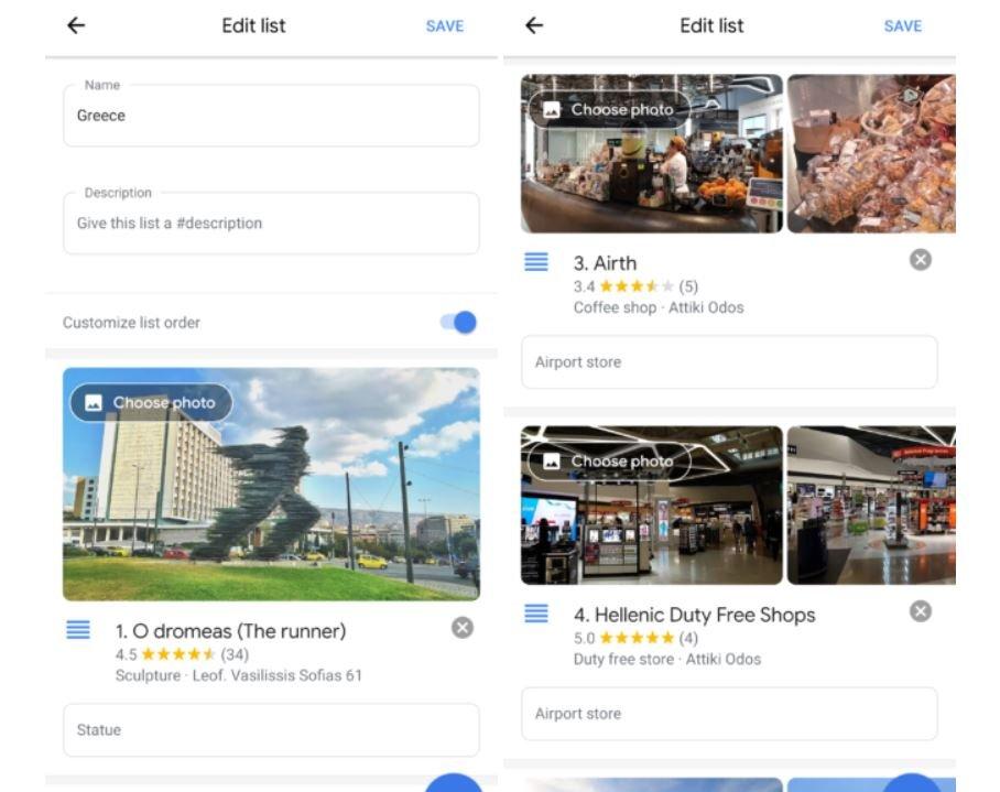 google maps listen reorder