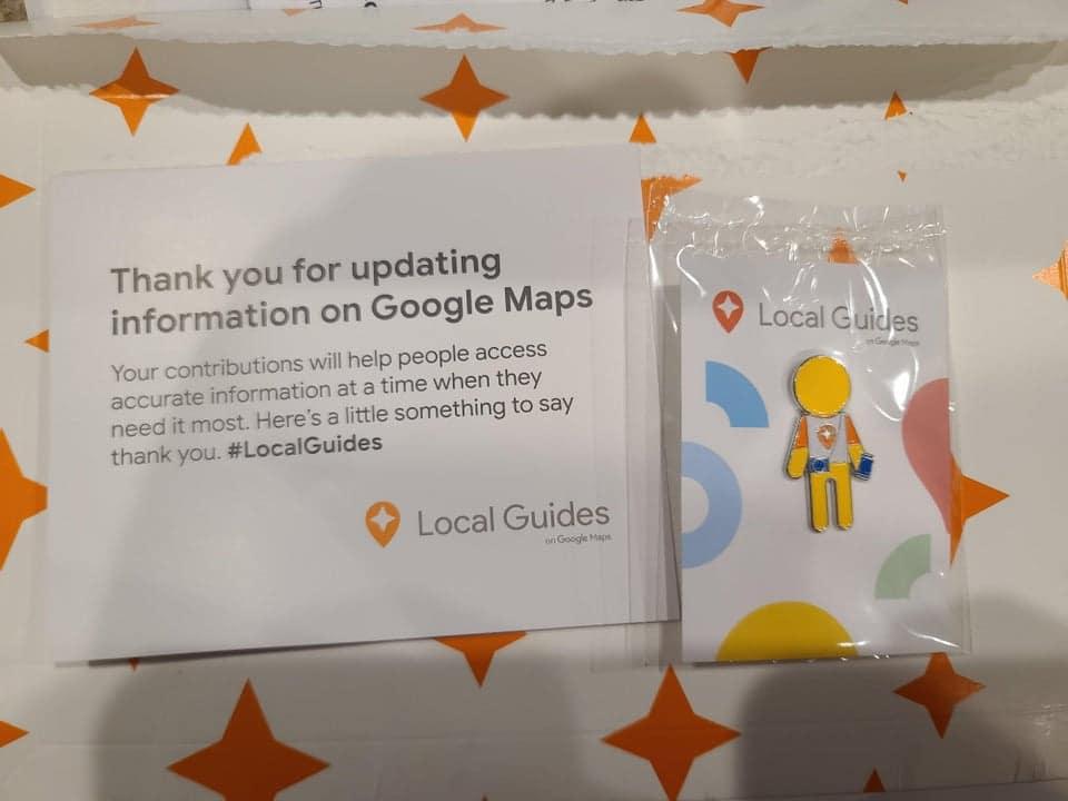 google maps local guide geschenk pin 1