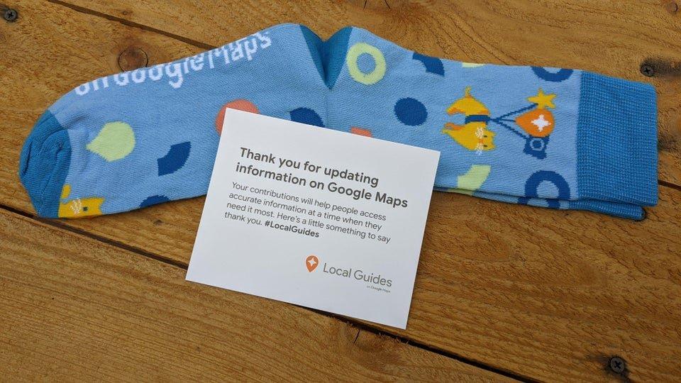 google maps local guide geschenk socken 1