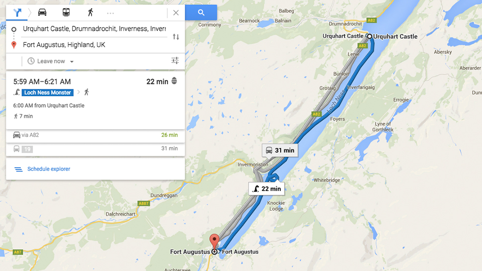 Google Maps Loch Ness