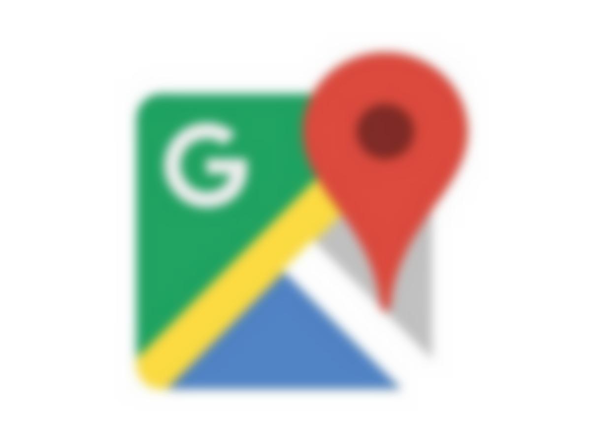 google maps logo blur