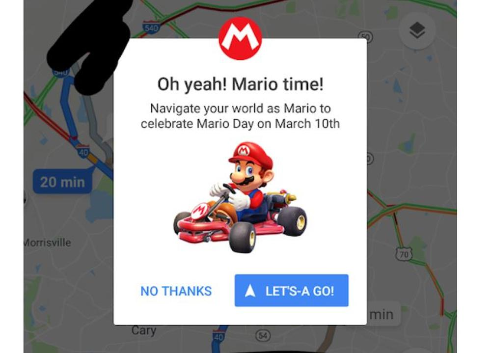 google maps mario time