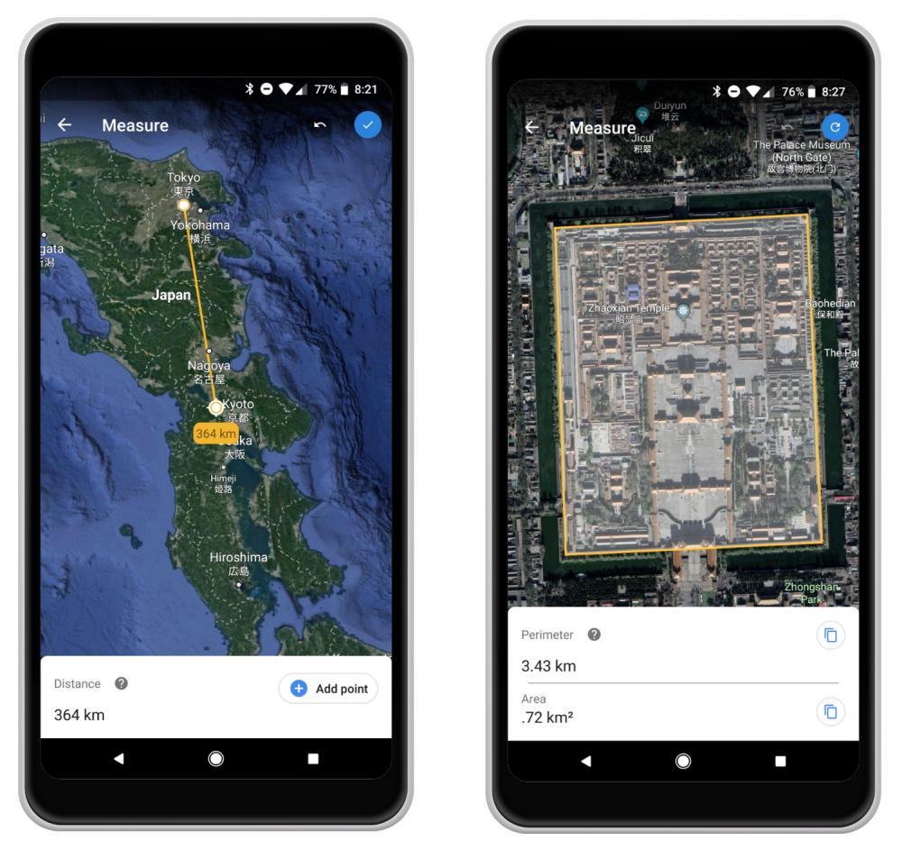 Google Earth Fläche Messen