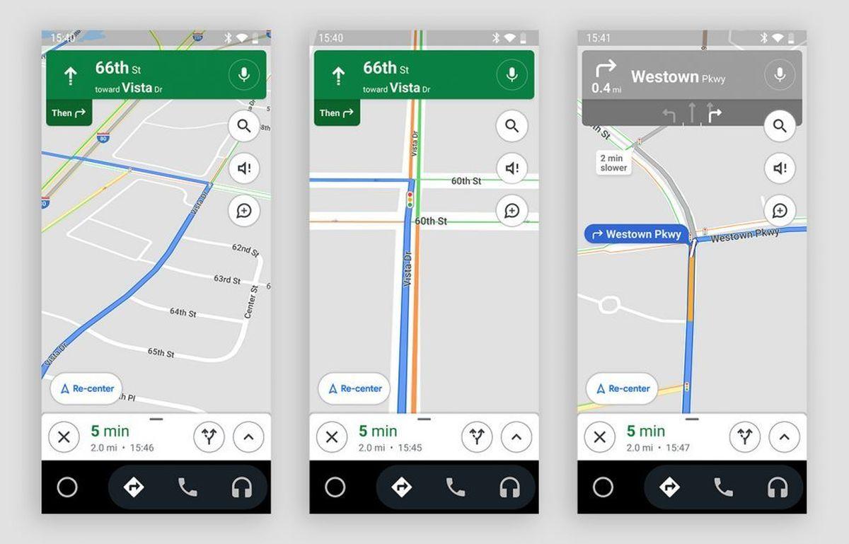 google maps navigation ampel