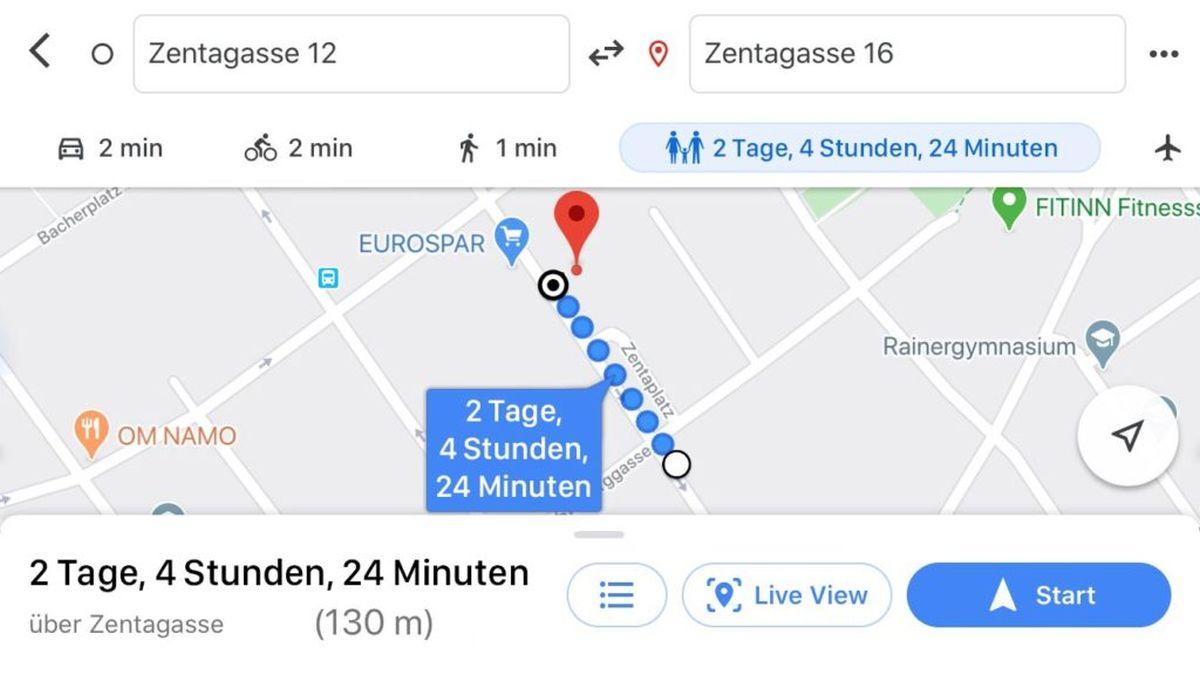 google maps navigation kleinkind