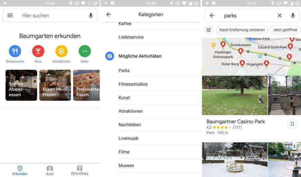 google maps neue oberfläche