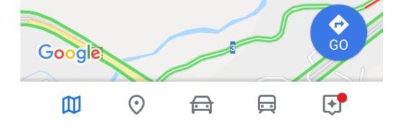 google maps new design button left