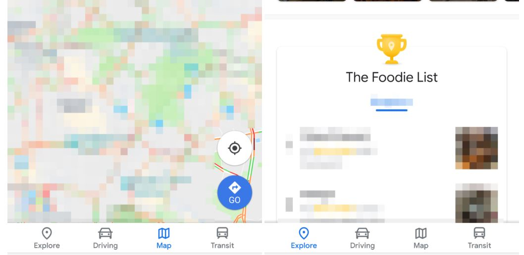 google maps new design button