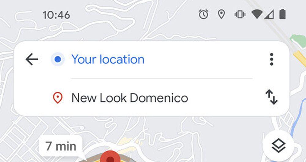 google maps new design search