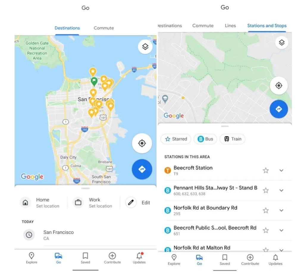 google maps new tabs go