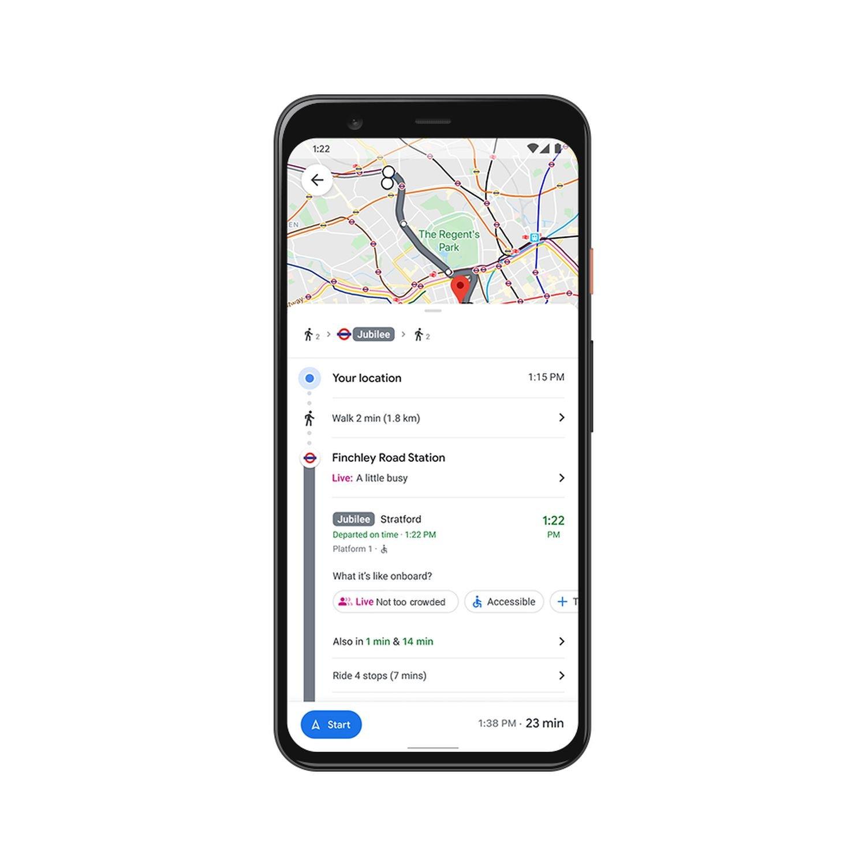 google maps oepnv live info