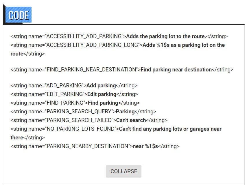 google maps parking nearby