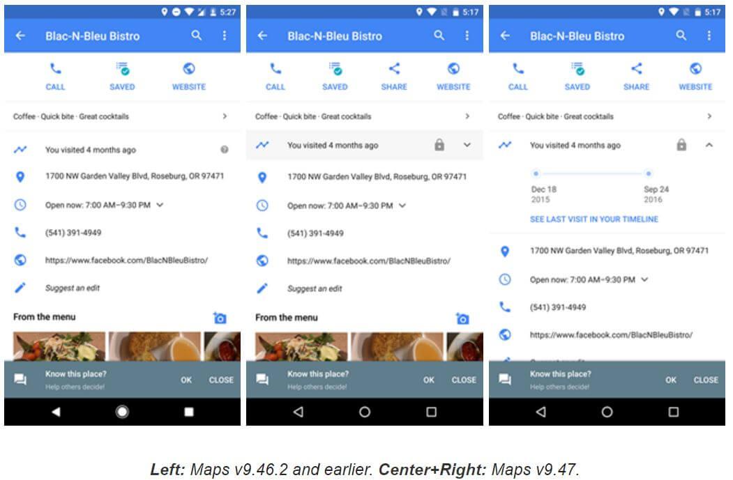 google maps places