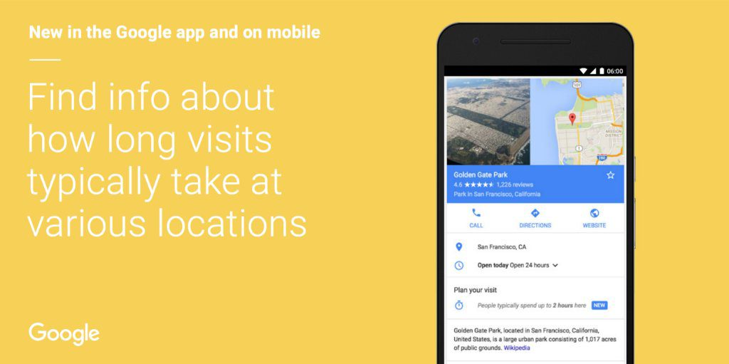 google maps plan your visit