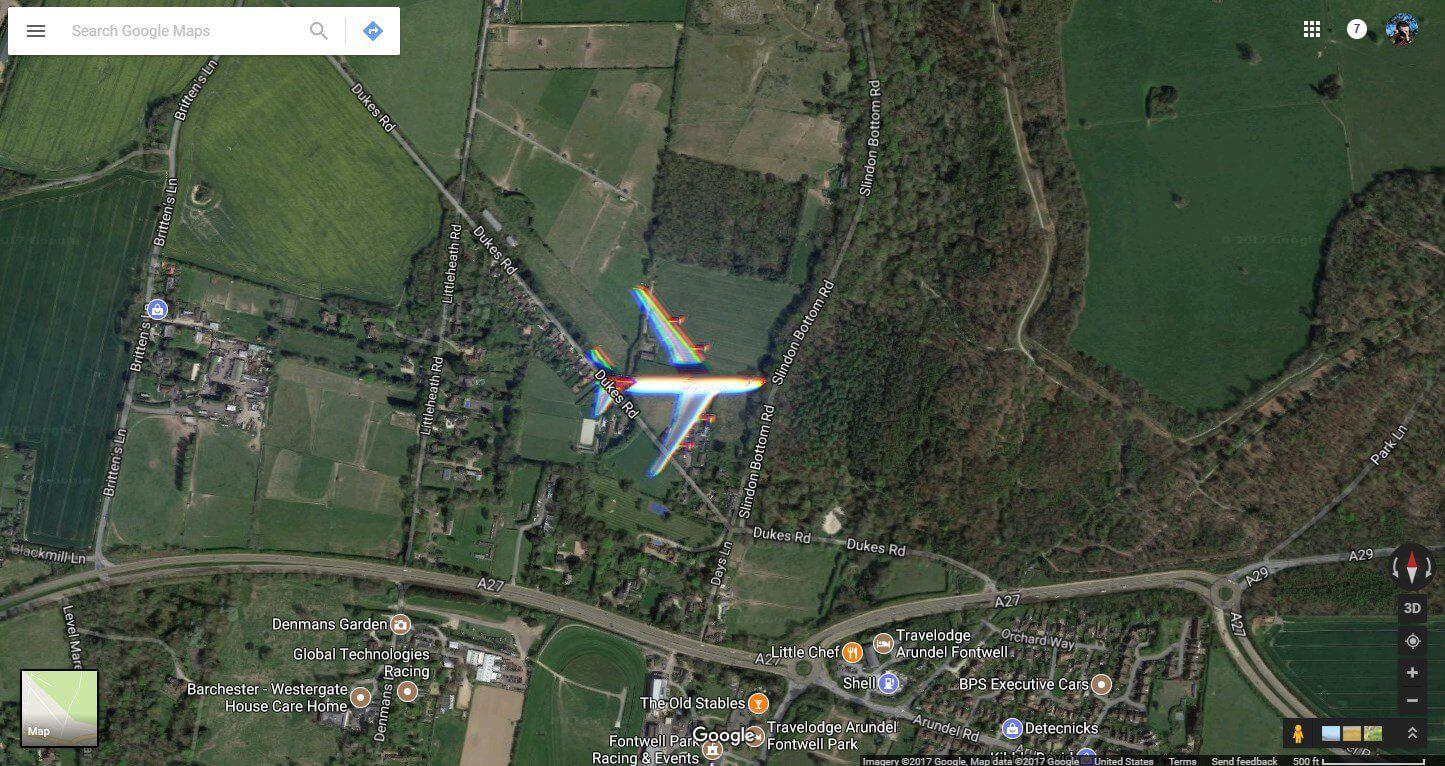 google maps plane