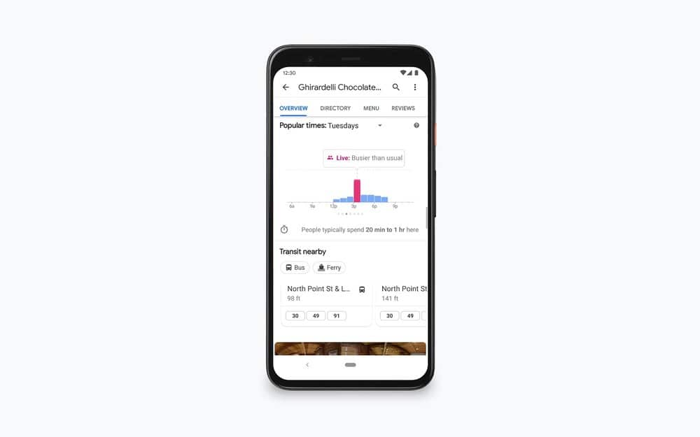 google maps popular times live