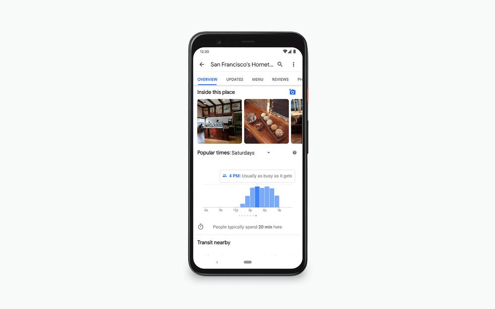 google maps popular times