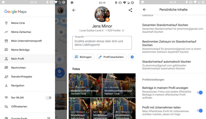 google maps profil bearbeiten