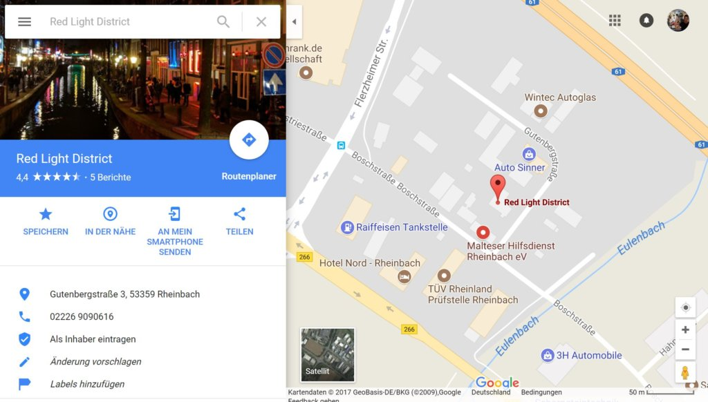 Google Maps Red Light District