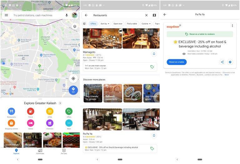 google maps restaurant werbung