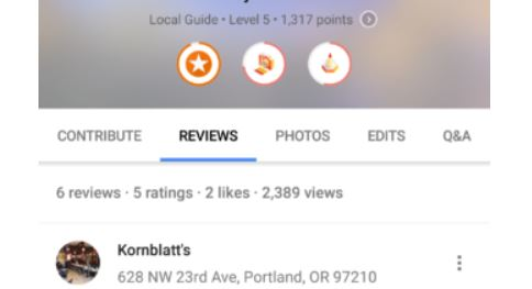 google maps profile counter