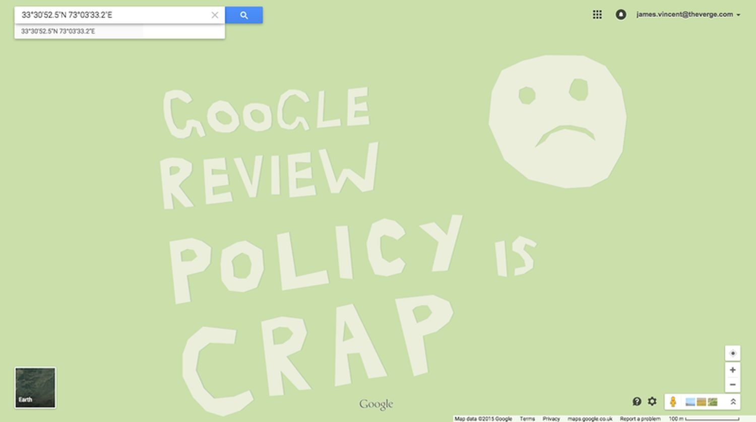 google maps review crap