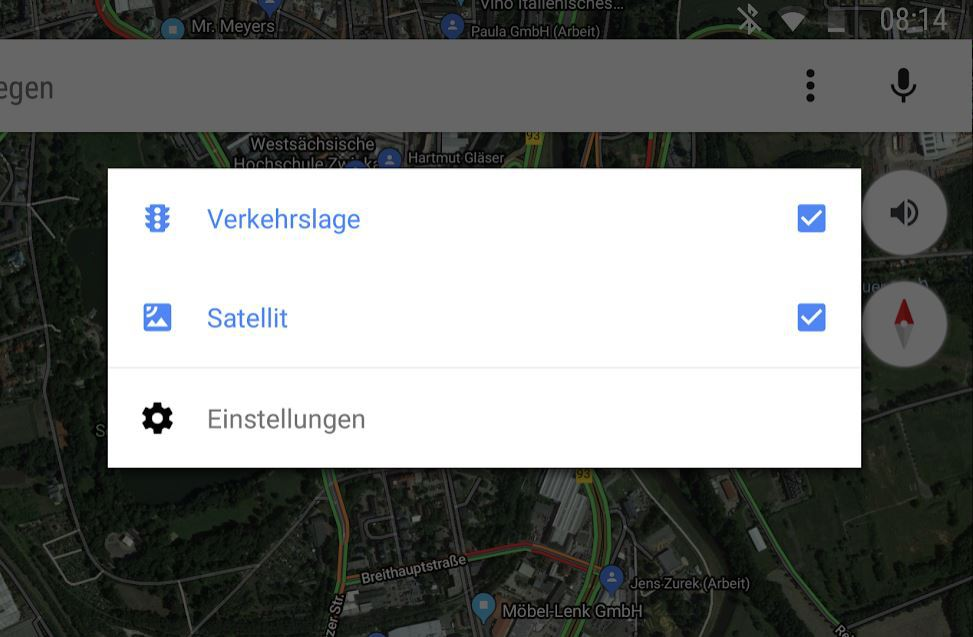 google maps satellite menu