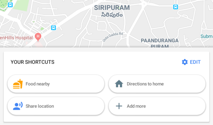 google maps shortcuts