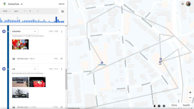 google maps standortverlauf bilder