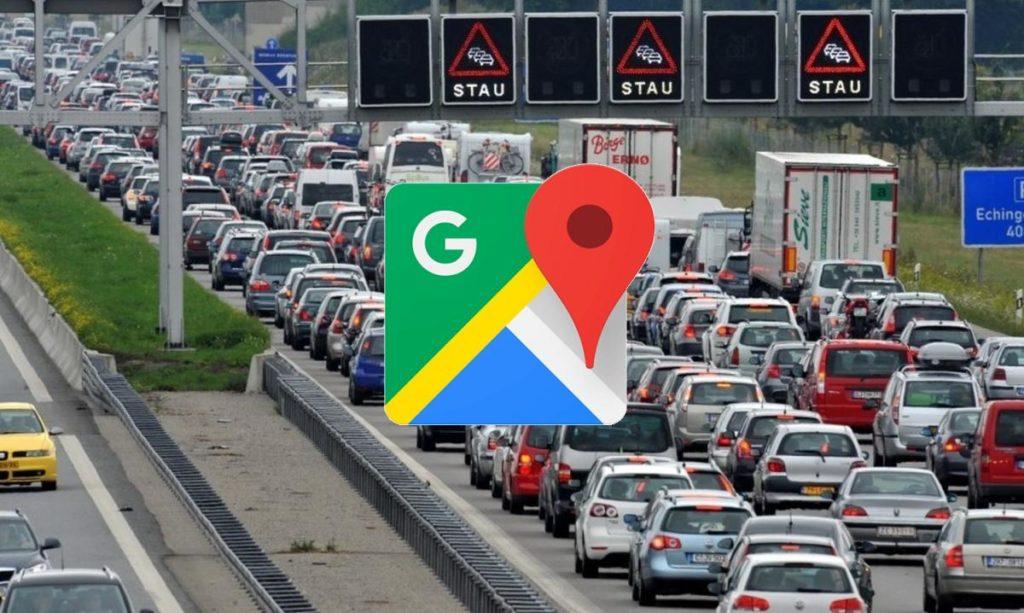 google maps stau