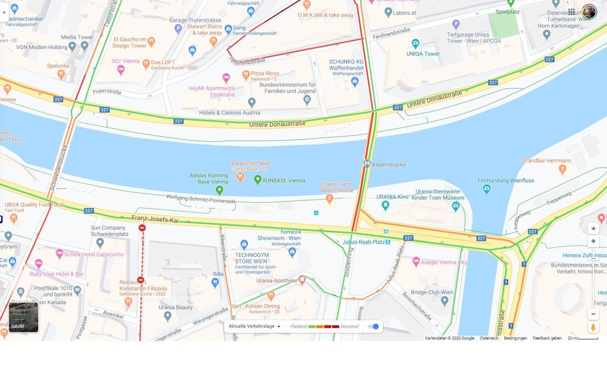 google maps stau karte