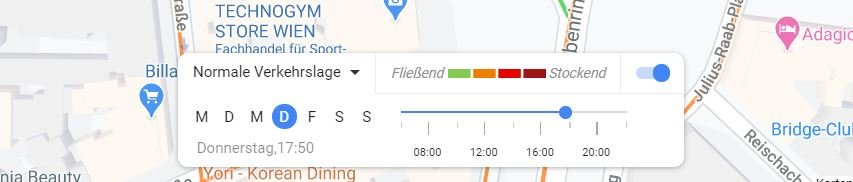 google maps stau statistik