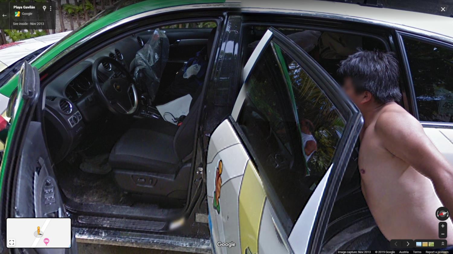 google maps streetview inside the car