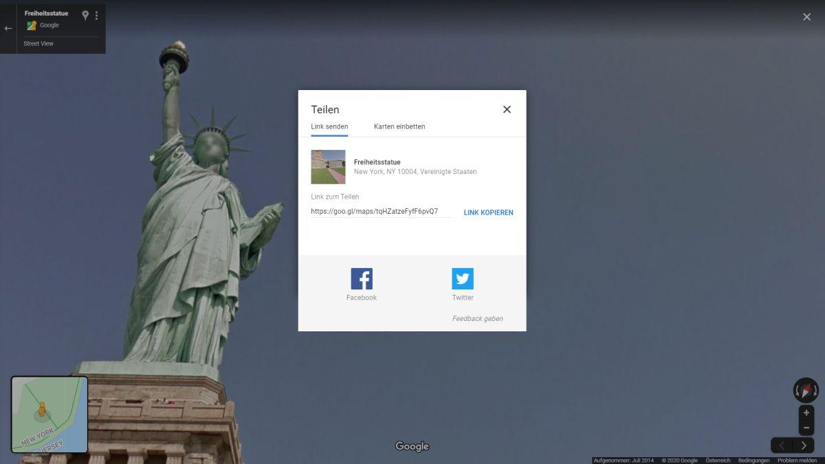 google maps streetview teilen und einbetten