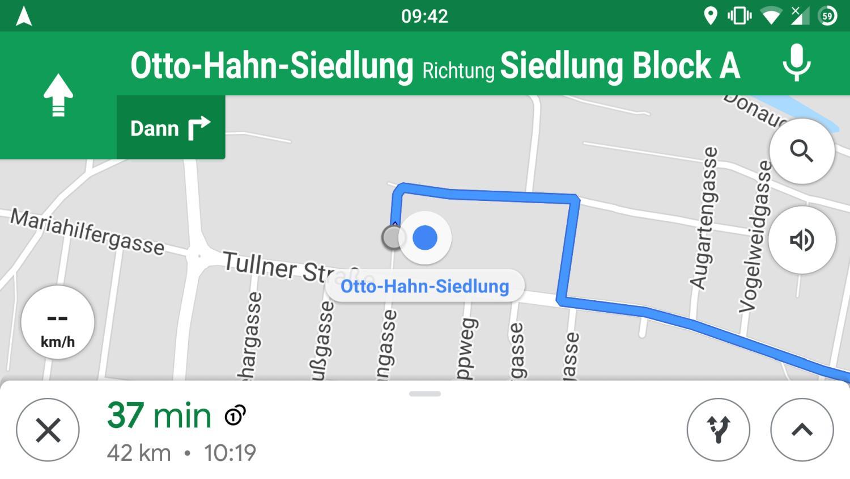 google maps tacho