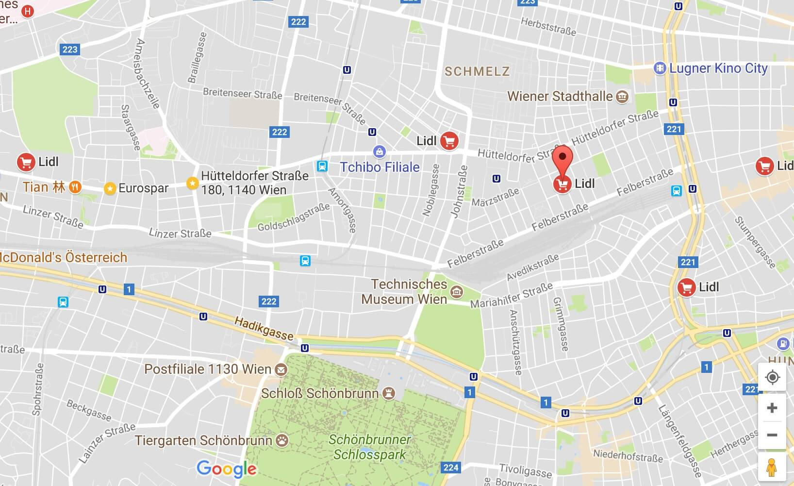 Google Maps Tasten